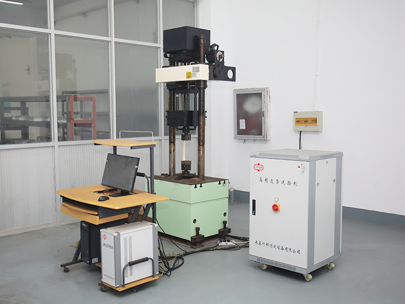 High frequency fatigue testing machine